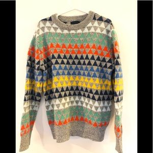 Multicoloured triangle gap knit sweater size 8-9